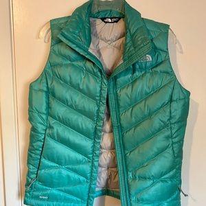 The North Face women's medium teal aqua blue vest